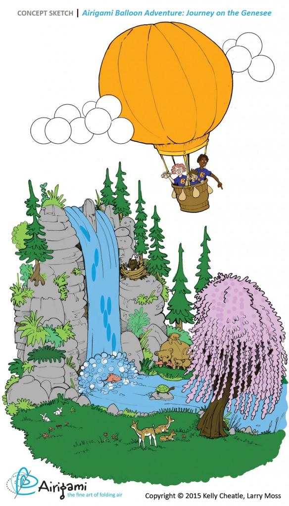 Airigami Balloon Adventure 2016 Concept sketch