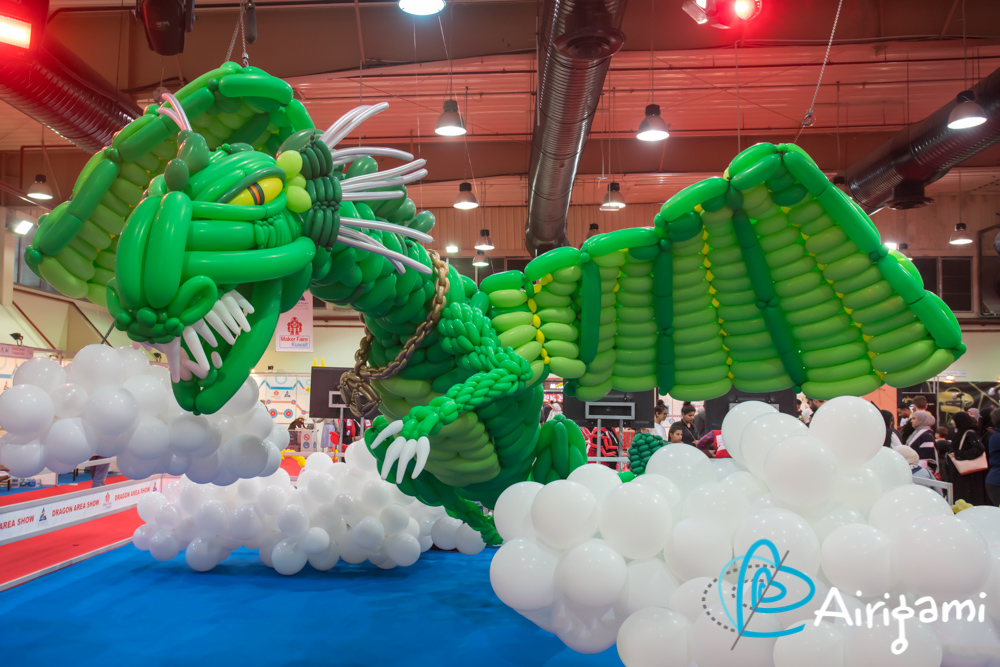 Airigami balloon dragon