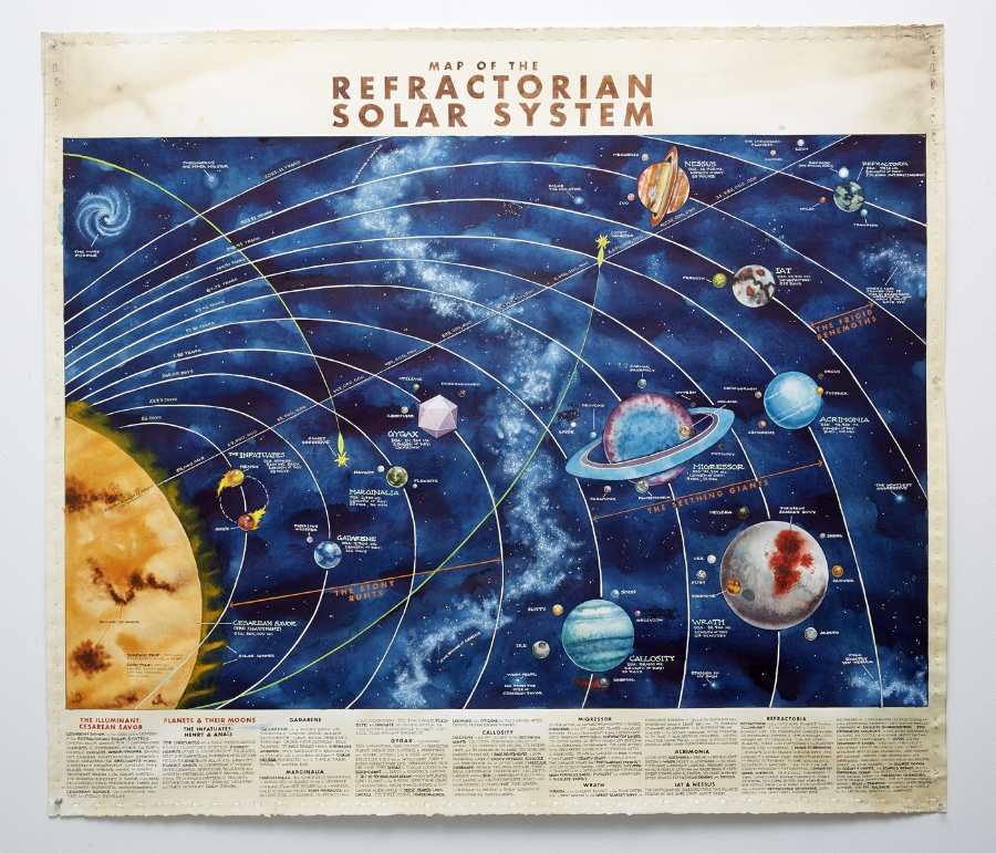 Map of The Refractorian Solar System