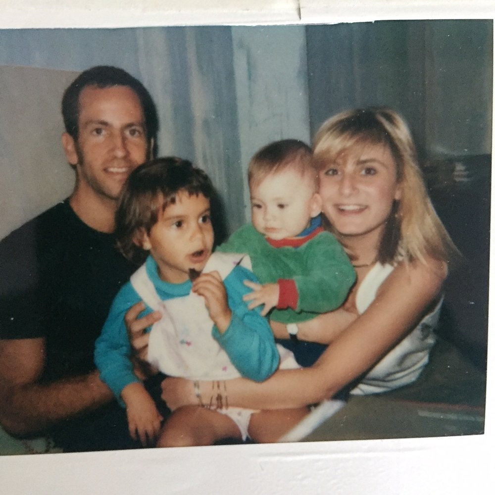 Karin with Kenny Scharf and family - From her Tony Shafrazi days