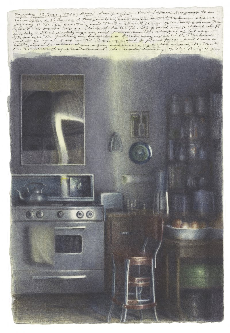 Kitchen With Shadows and Reflections