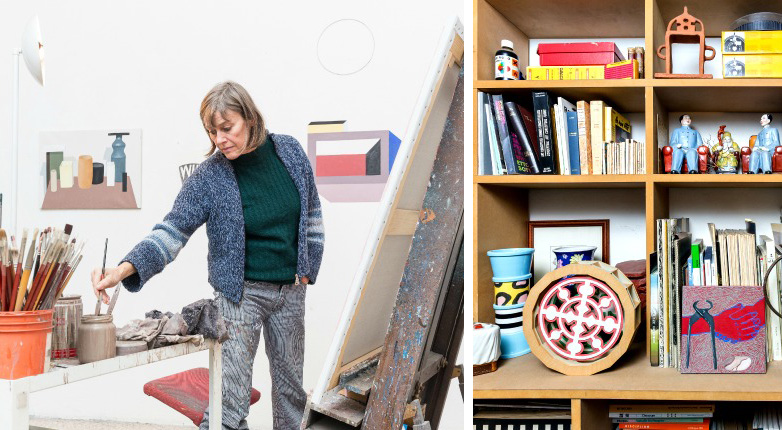 Du Pasquier at her studio in Milan, Italy. Photo: Delfino Sisto Legnani for Surface Magazine