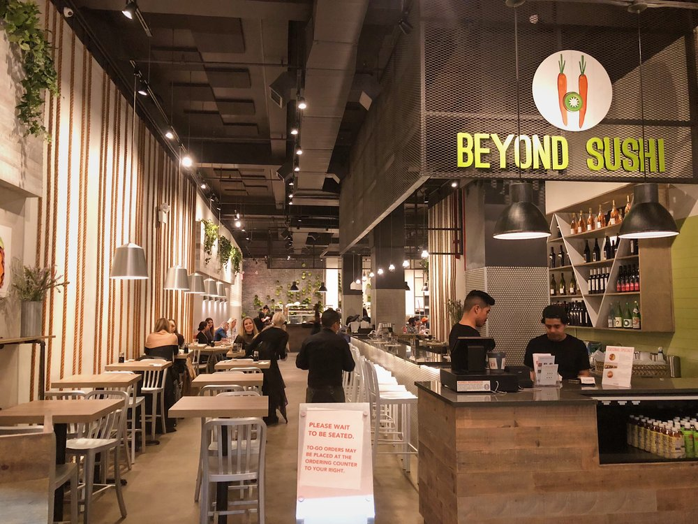 Beyond sushi at west 37th street, vegan sushi restaurant in NYC