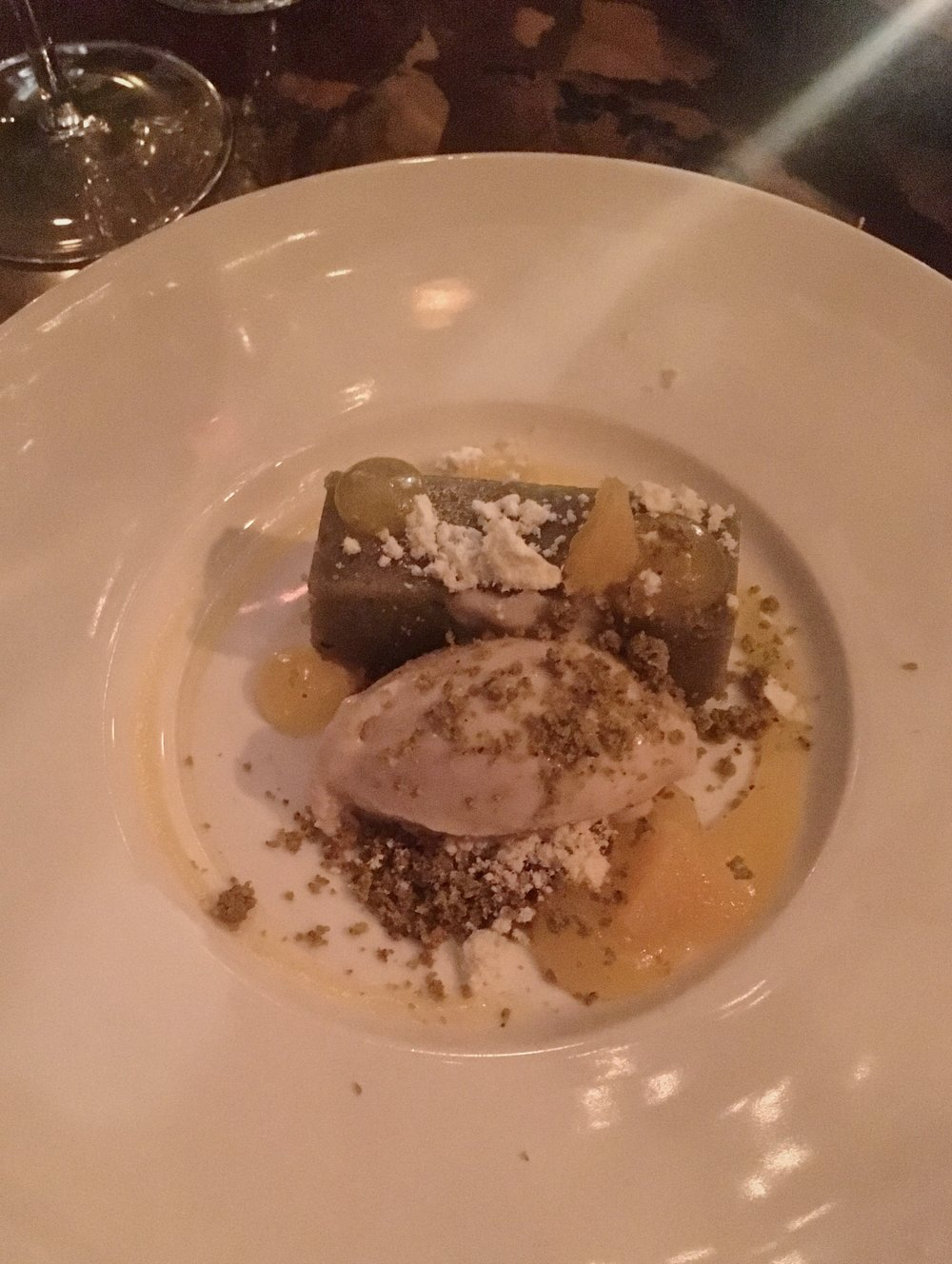 white truffle ice-cream & pistachio cake