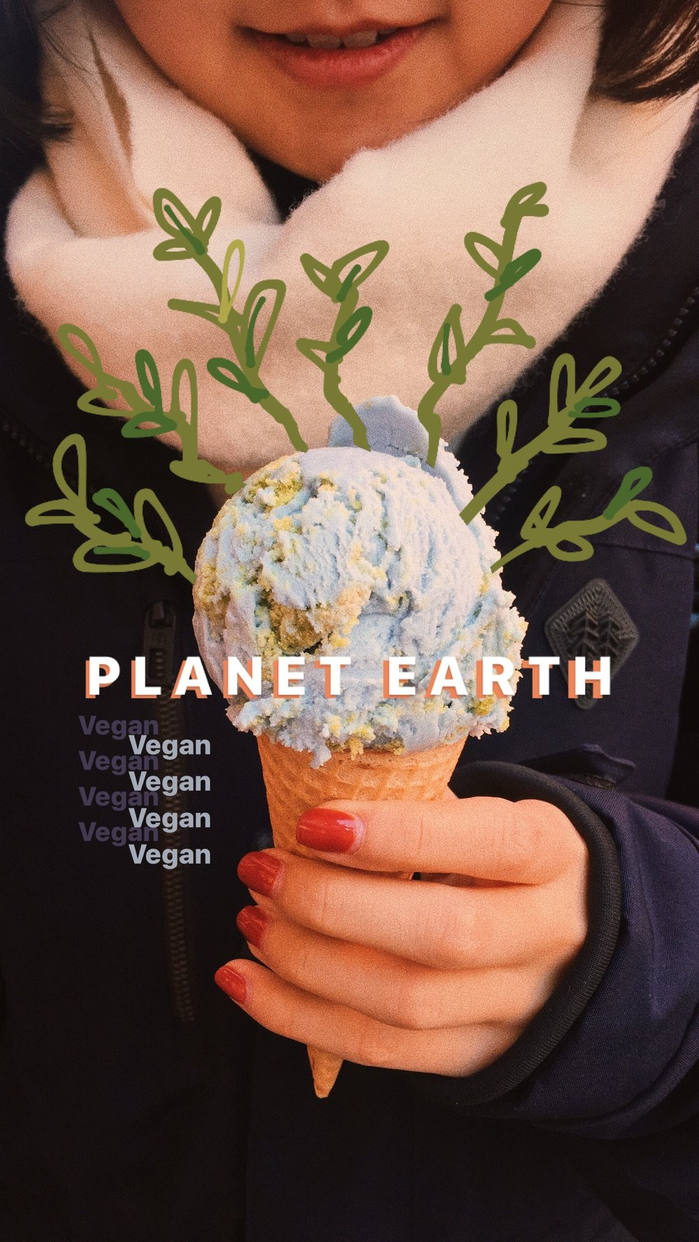 vegan ice cream, planet earth, van leeuwen