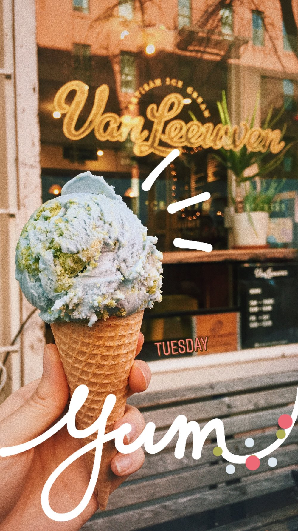 planet earth ice cream at Van Leeuwen