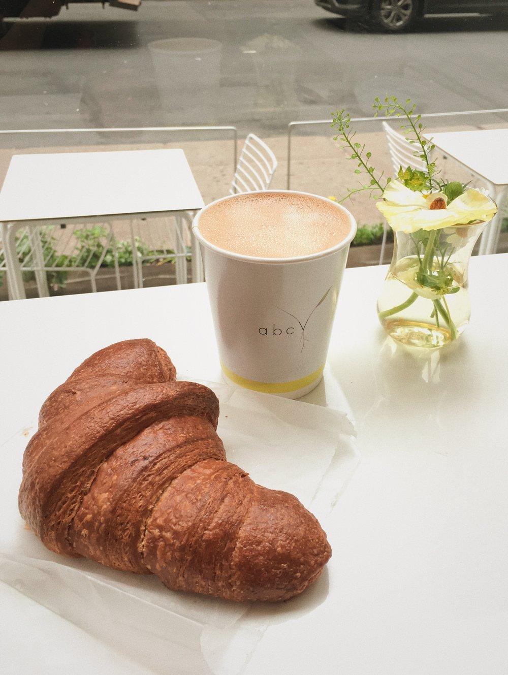 Plain Vegan Croissant with Almond Cappuccino