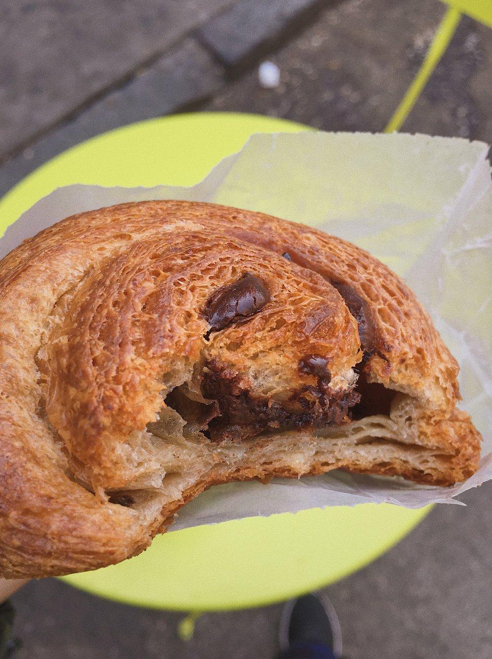 Chocolate Vegan Croissant