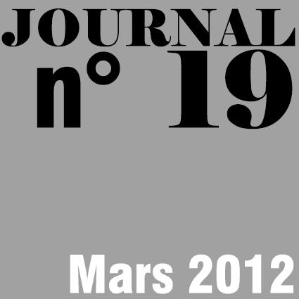 JOURNAL N°19 - MARS 2012