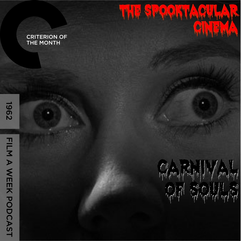 """EP. 103: CRITERION OF THE MONTH - """"cARNIVAL OF SOULS"""" - Welcome to the Carnival of Souls. Step up right this way! Serg and Patrick enter the mysterious carnival on their way to Utah with Mary as a ghoul seems to be on her trail. Listen as the hosts discuss the cult classic from rampant organ music, its public domain status and what inspiration this low-budget thrill has left."""