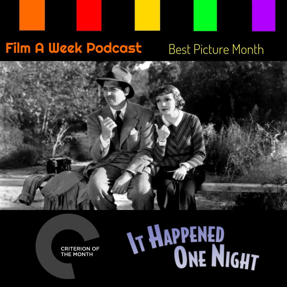 "EP. 112: Criterion of the Month - ""It happened one night"" - The hosts embark on a screwball adventure with Clark Gable and Claudette Colbert in ""It Happened One Night"" for their Criterion of the Month. Listen as we discuss the how the film won the Big 5 Oscars and give our thoughts on how this film is quite possibly the most dated film we've seen on our show. (Dec. 7)"