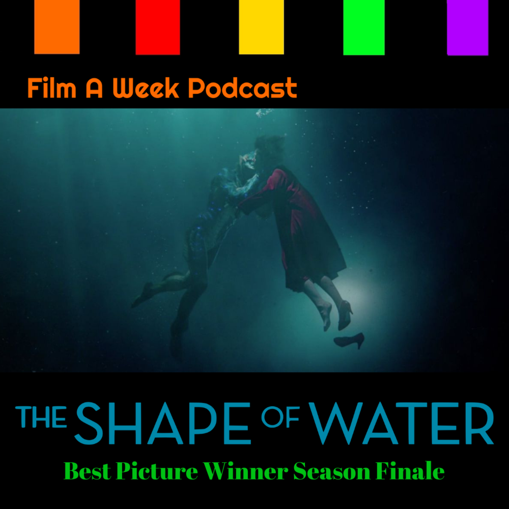 "EP. 115: Season finale - ""The shape of water"" - Season 2 ends with the first science-fiction (!) film to win the Best Picture Oscar. Listen as the two host gush about Guillermo Del Toro as a director, the tribute to monsters and musicals and how this film finally gave sci-fi the recognition it deserves. (Dec. 26)"