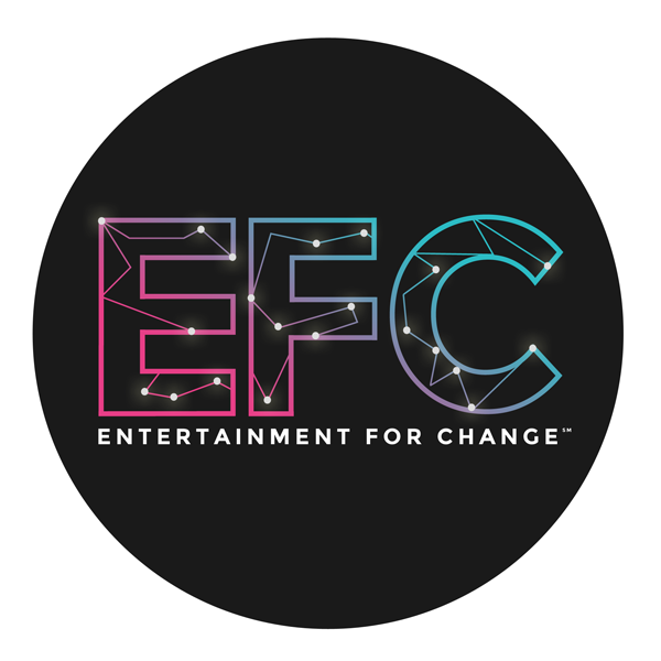 ENTERTAINMENT FOR CHANGE     Entertainment for Change (EFC) is a performing arts organization that educates and engages both emerging and established artists to develop work inspired by the 17 Sustainable Development Goals, as set forth by the United Nations. Pop Off did not design the logo. Work for EFC can be seen on the    Graphic Design page   .