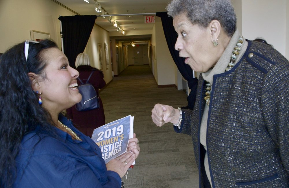 Kim with Ruth Hassell-Thompson, Special Advisor to Governor Cuomo.