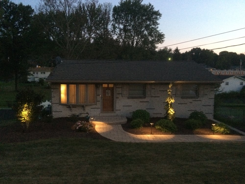 Landscape lighting services for outdoor living spaces in North Huntingdon, PA