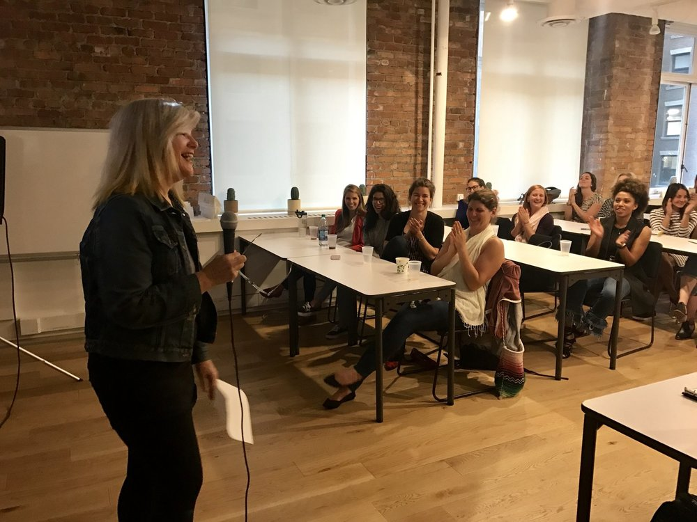 Betsy Burroughs delighting the audience at Lightning Talks this week