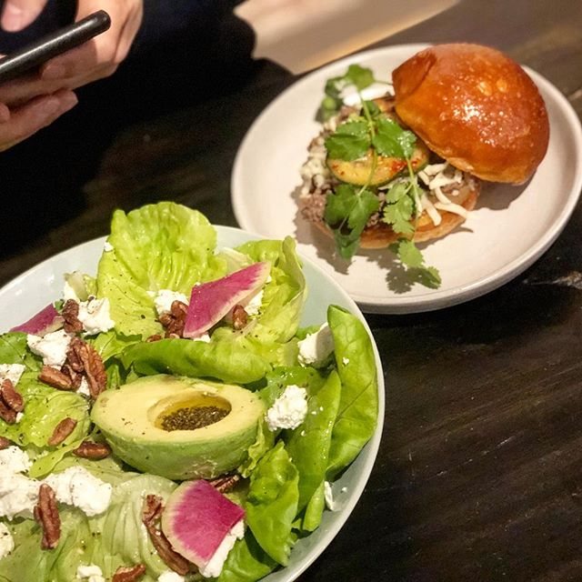 Brunch is Perfect 🎈 #brunch#burger#Sunday#saladLife#