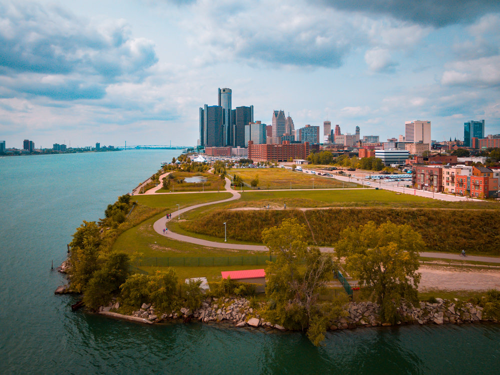 Fun Fact: - Detroit is the only U.S. city where you can drive south into Canada.