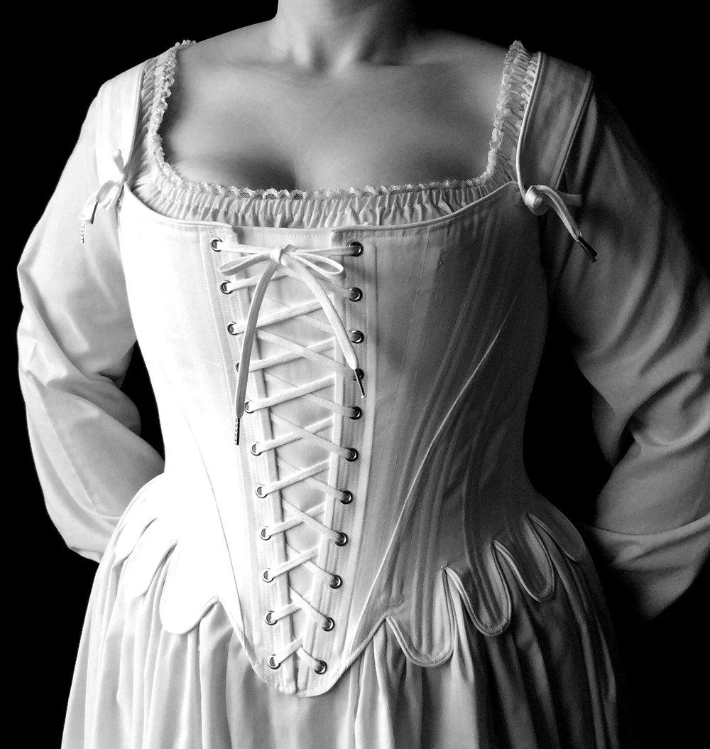 09cfba3b3e4 18th c. Marie Antoinette Stays — Period Corsets