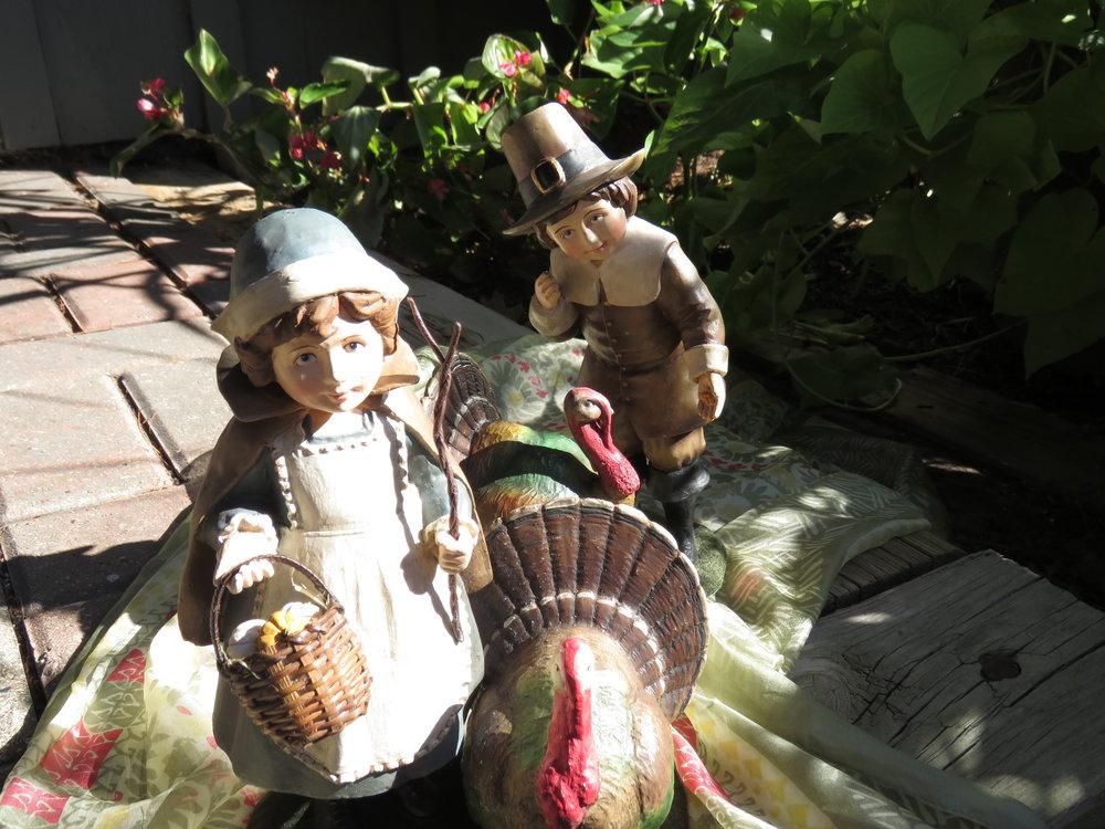 Bethany Lowe Pilgrim boy and girl with turkeys - $74.95 each