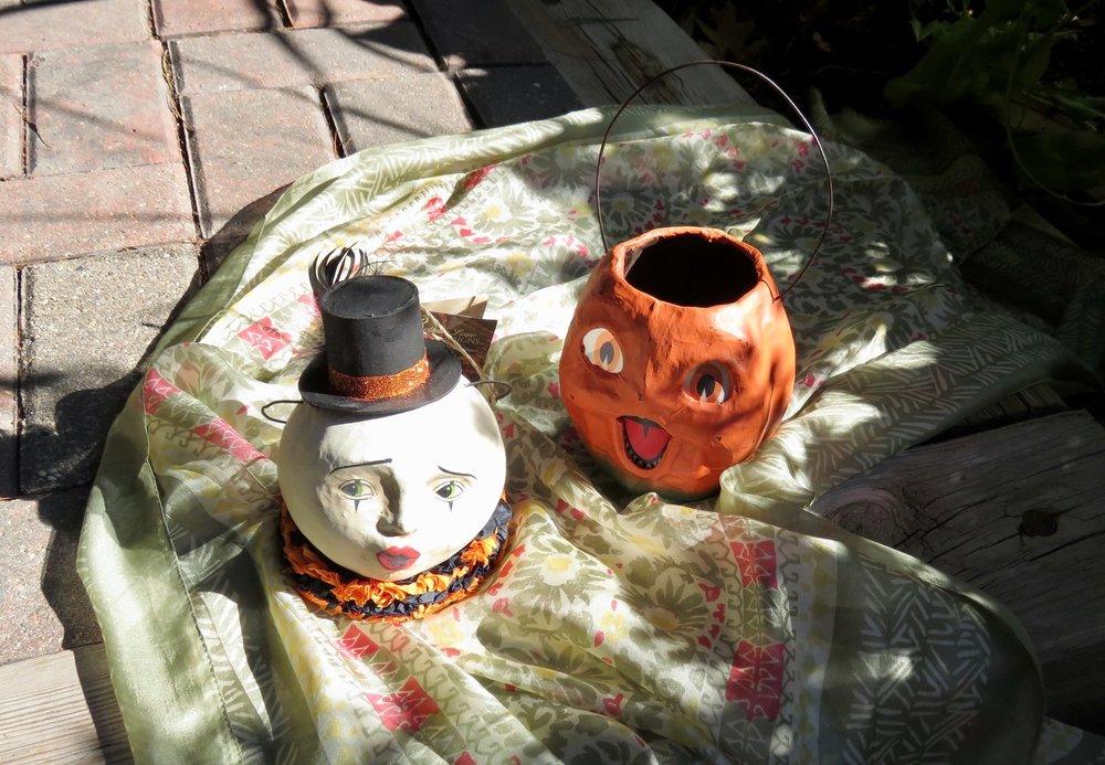 Bethany Lowe Magic Moon Bucket - $27.95    Pumpkin Bucket - $23.95