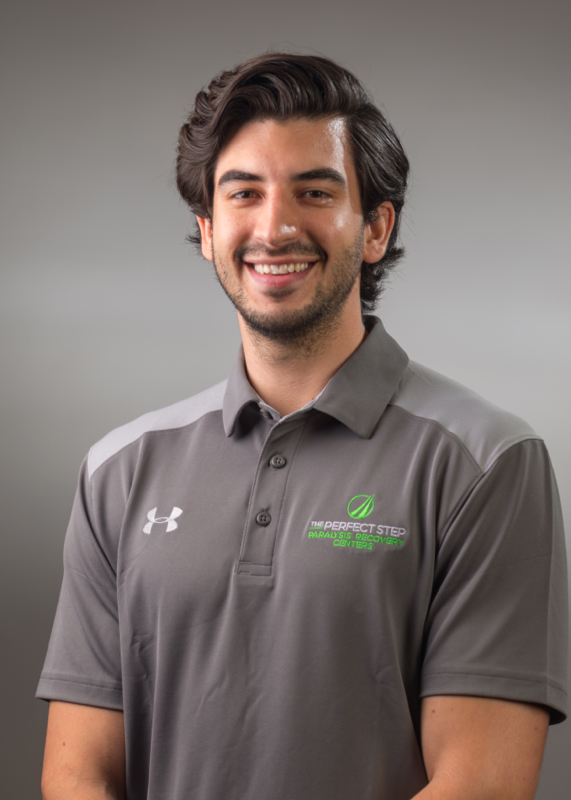 "Nathan Lozano - ""I want to help others succeed by meeting their short and long-term goals. Along with their goals, I want to lead clients to a healthy lifestyle throughout their recovery.""Nathan Lozano became a part of the TPS team in 2017 as a Paralysis Recovery Assistant. As of June 2018, Nathan became The Perfect Step's most recent Certified Paralysis Recovery Specialist after he passed his Level I exam. Nathan graduated from Azusa Pacific University with a Bachelor of Science in applied exercise and is currently fulfilling his Masters of Science in Kinesiology at A.T. Still University. With over a year of experience in the field of paralysis recovery, Nathan is also certified in Interactive Metronome and NASM Corrective Exercise.Prior to working at The Perfect Step, Nathan worked as a physical therapy aide at several rehabilitation clinics and has developed expertise in designing rehabilitation programs for patients. As an up-and-coming specialist inside the facility, Nathan aspires to gain as much knowledge as he can in the field of paralysis recovery, so he can help others succeed. Nathan truly is a student of the game and has humble beginnings and foundations to fall back upon within the TPS.If you were to find Nathan outside the facility odds are he would be traveling, hiking, reading, spending time with friends and family, or watching romantic comedies."