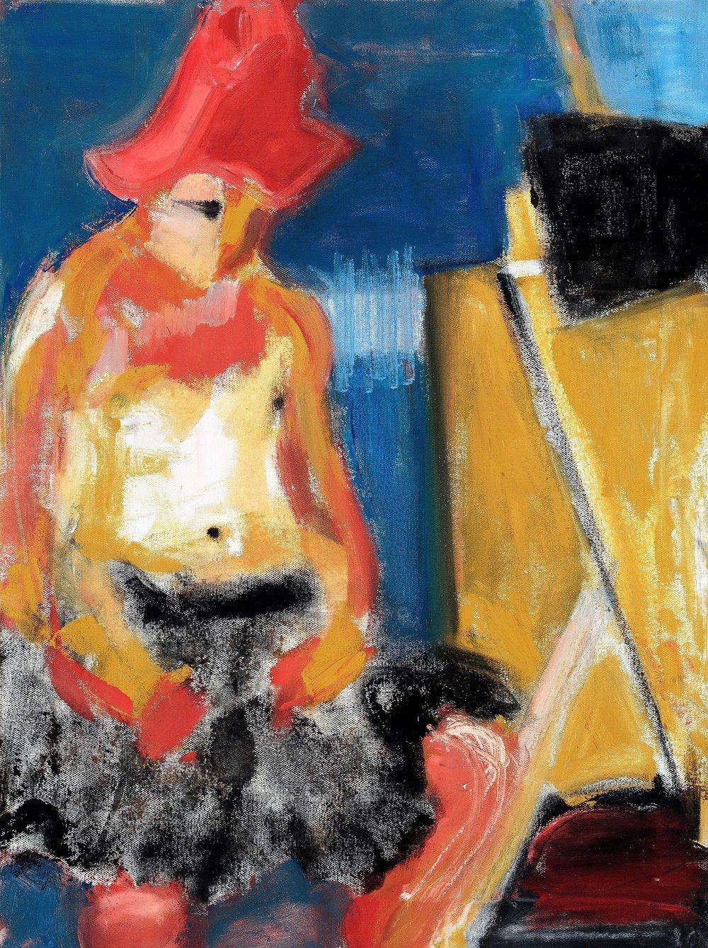 "#1, 2016, Oil on Canvas, 24 x 18"""