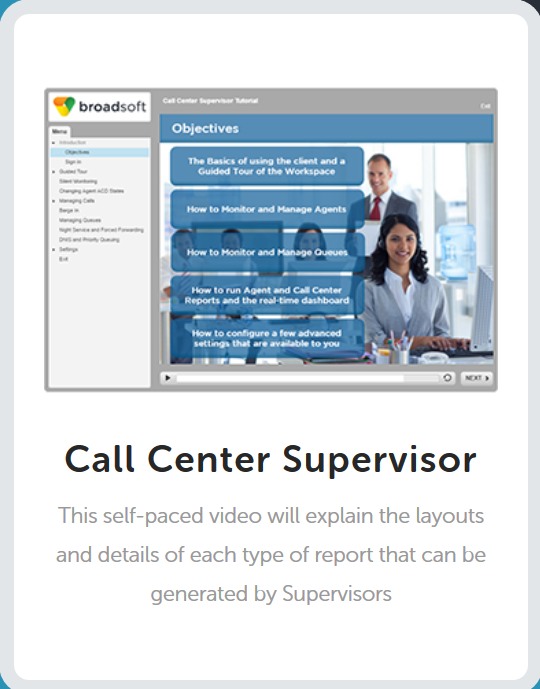 Call Center Supervisor Tutorials