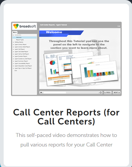 Call Center Reports for Supervisors