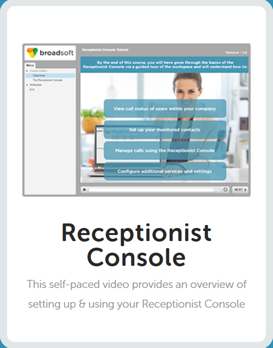 Receptionist Console Tutorial
