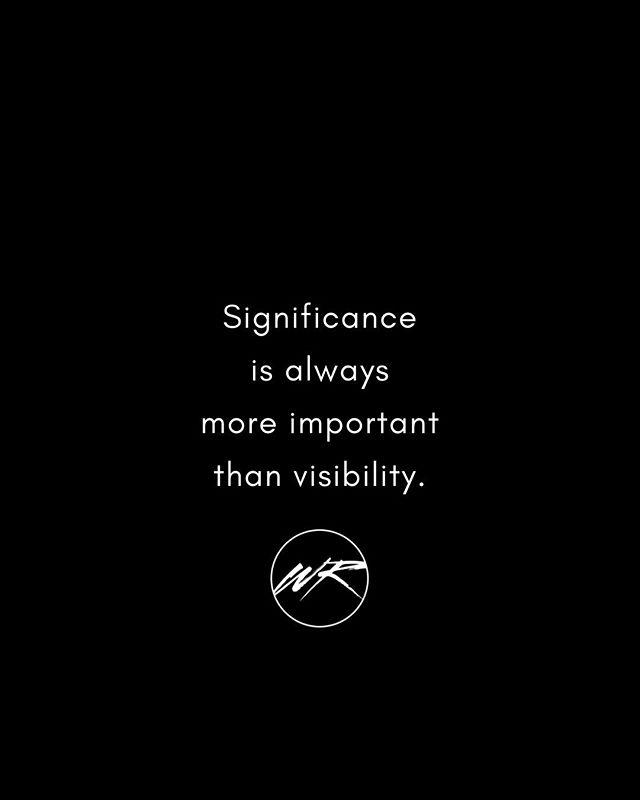 Significance is always more important than visibility. Never forget that.⠀ •⠀⠀ •⠀⠀ •⠀⠀ •⠀⠀ •⠀⠀ •⠀⠀ •⠀⠀ •⠀⠀ •⠀⠀ #WesleighRushing #SingerLife #IndieArtist #IndieDance #NewMusicAlert #Christian #CHH #CEDM #IndiePop #EDM #MusicBiz #BrittNicole #JustinBieber #JacobWhitesides #JakeMiller #SelenaGomez #FifthHarmony #TaylorSwift #ShawnMendes #NickJonas #Kesha #TroyeSivan #BritneySpears #DemiLovato #InstaMusic #InstaGood #InstaDaily #HoustonMusic
