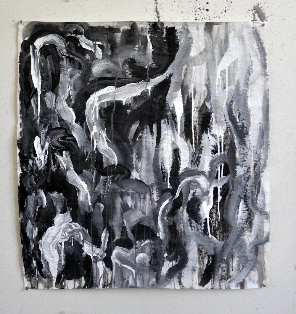 "2014  acrylic paint  34"" L x 29"" W"