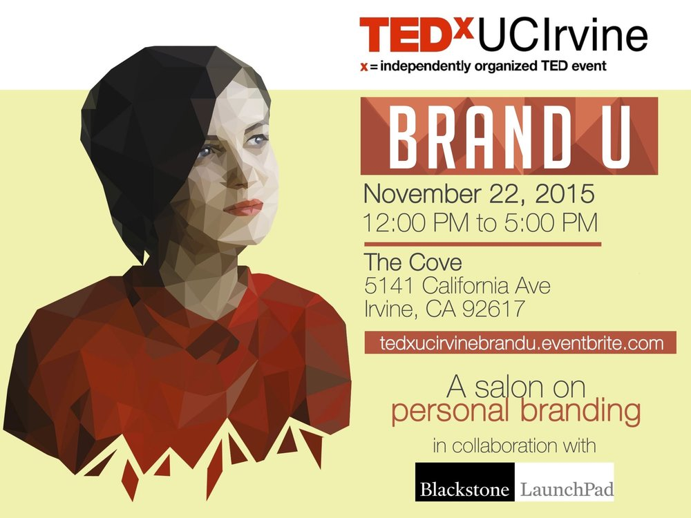 BRAND U - TEDxUCIrvine curates various salons throughout the year to educate the community on different ideas and issues. In a smaller and more intimate environment compared to the annual events, BRAND U creates an engaging platform to discuss the