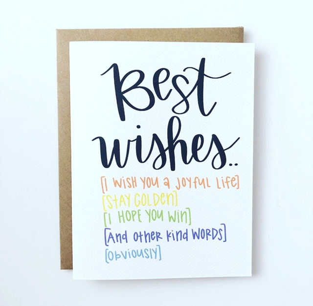 Best Wishes and Other Obvious Sayings — Mailennial
