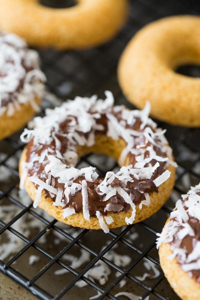 CHOCOLATE DIPPED DOUGHNUTS