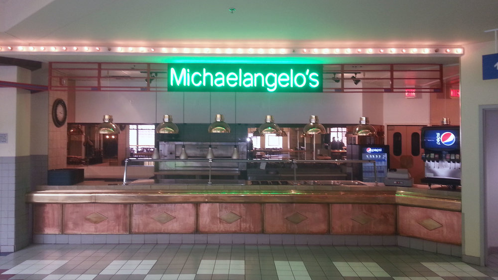 Michaelangelo's Neon Sign