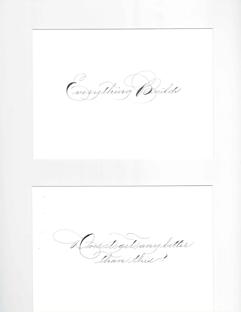Here are a couple more cards I sent to my subscribers. Bailey wrote these cards in Ornamental Penmanship, a script that was popular with American penman in the late 1800's to early 1900's.