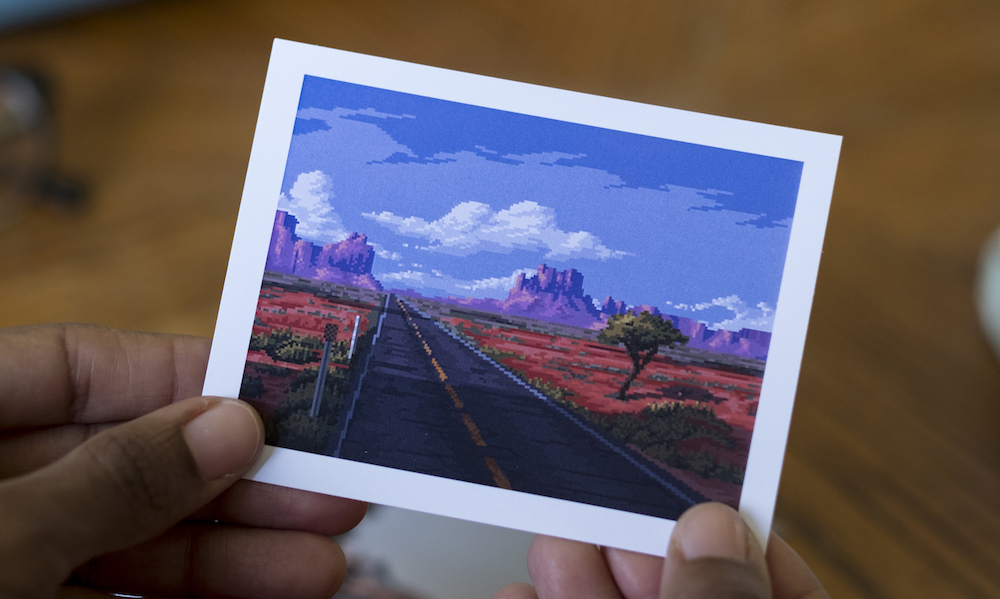 Highway Pixel art featured in Posted Letter #4