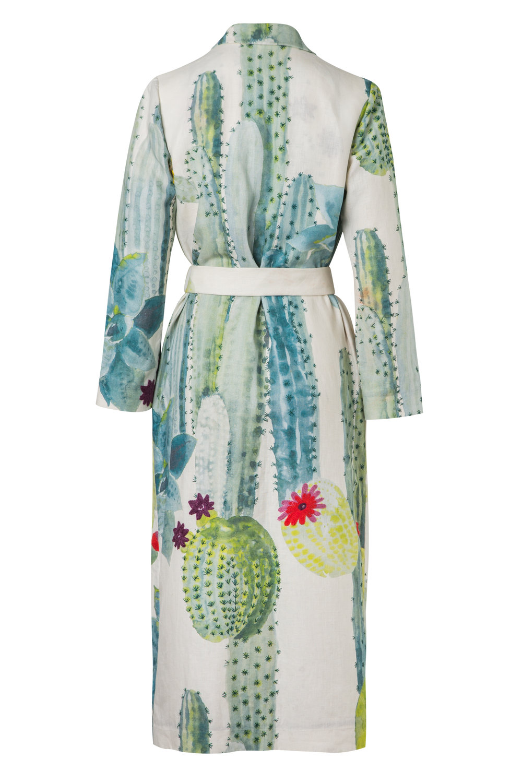 El Cactus - Back  Kimono Wrap Coat