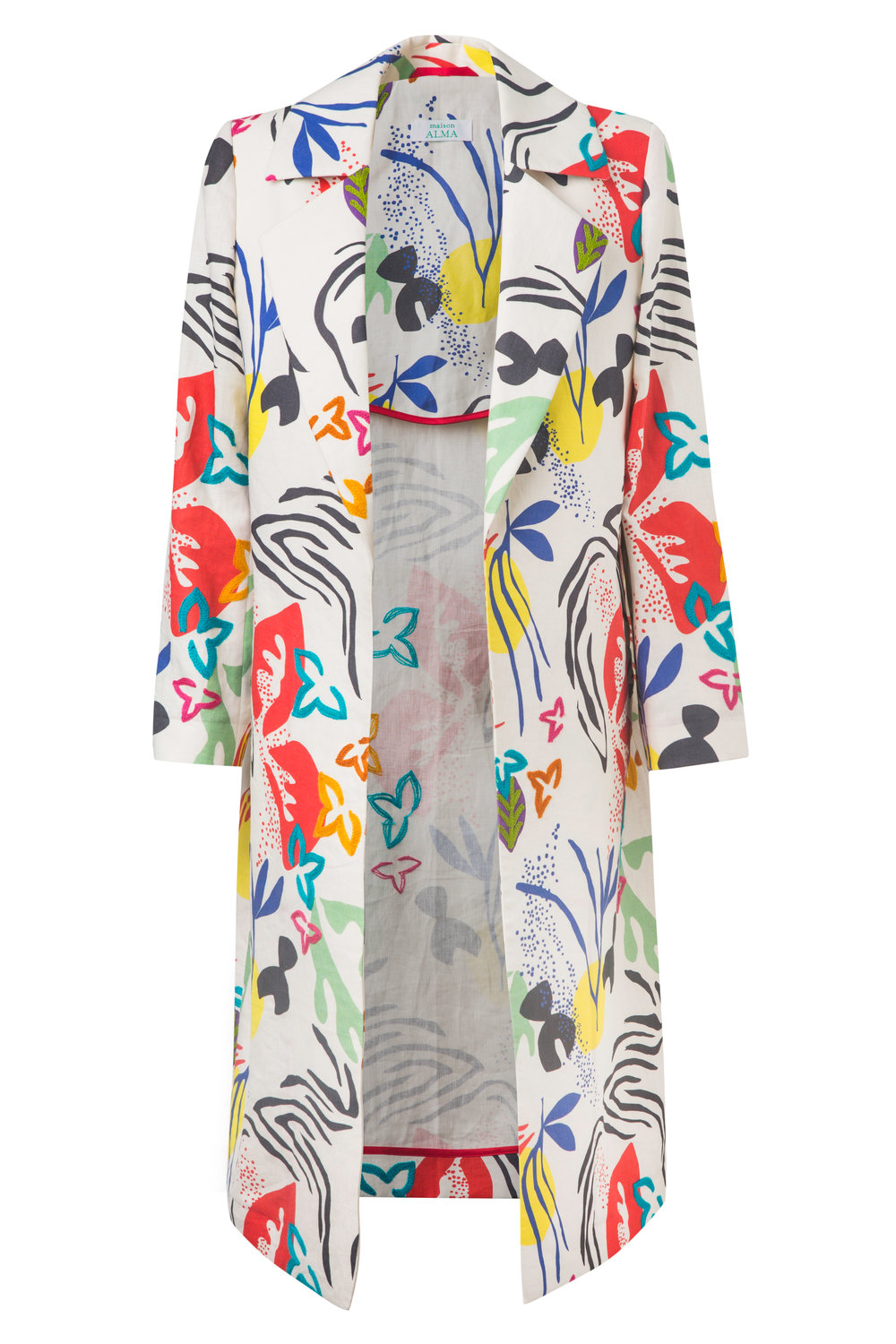 Flores y Papeles   Relaxed Trench Coat