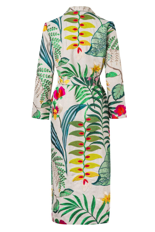 Heliconias - Back  Kimono Wrap Coat