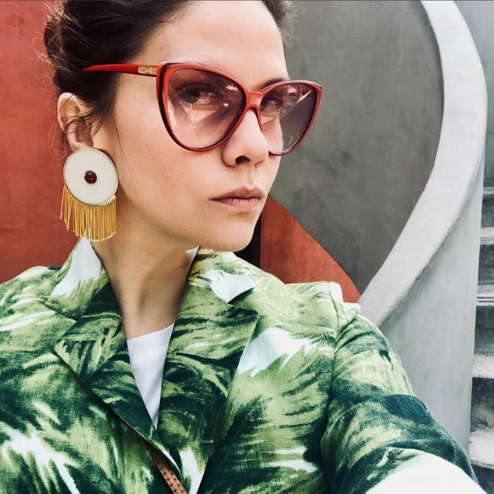MONICA SORDO - La Palma Kimono  #Designer #Curator #entrepreneur #almagirl #girlboss  @ Frida Kahlo's house in Mexico City