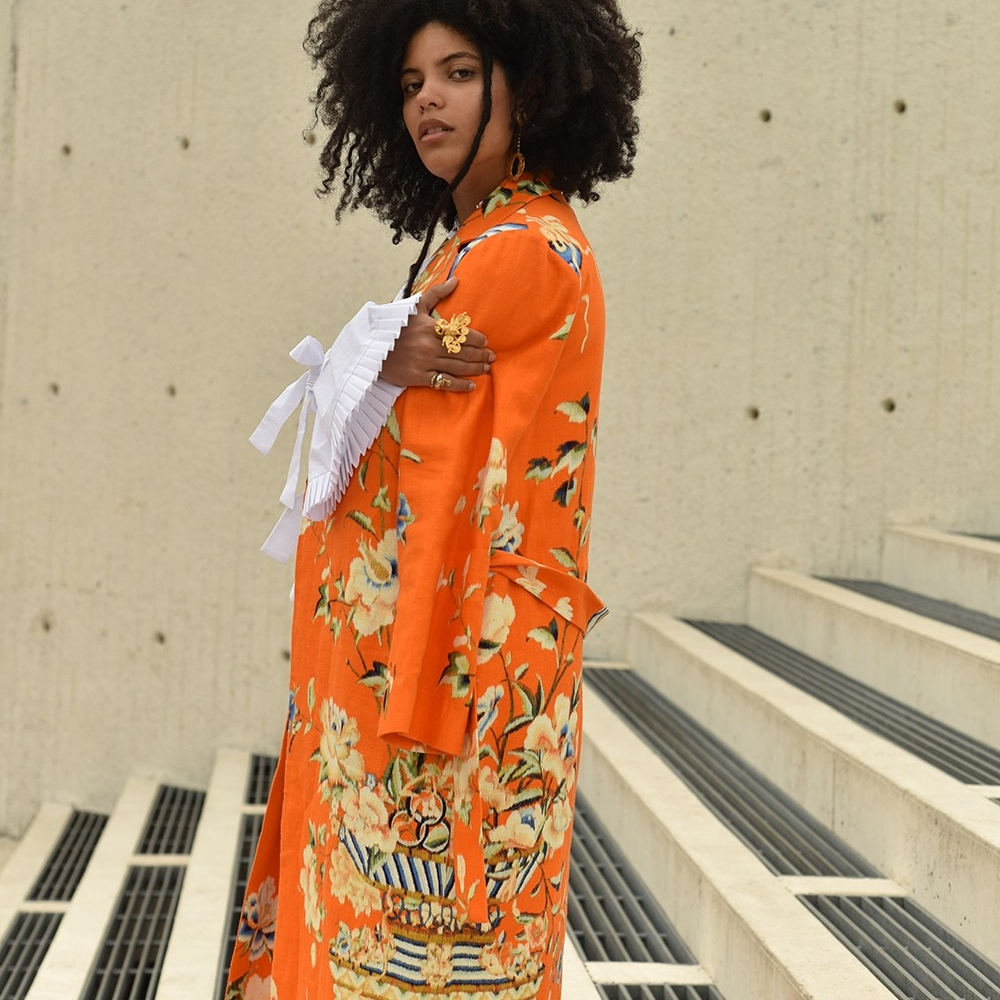 LISA KAINDE DIAZ - Calor y Rosas Kimono  #singer #songwriter #artist #ibeyi #almagirl #girlboss  @ Shoot for Vogue, Bogota, Colombia