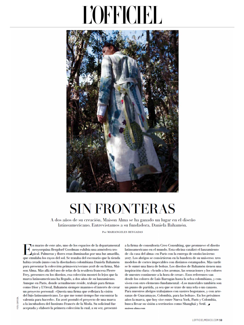 L'OFFICIEL MEXICO MAISON ALMA