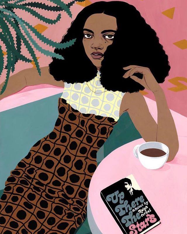 #artwelove 🎨 : @bijoukarman #shewhodares #blackgirlsrock #womenwhodare #art
