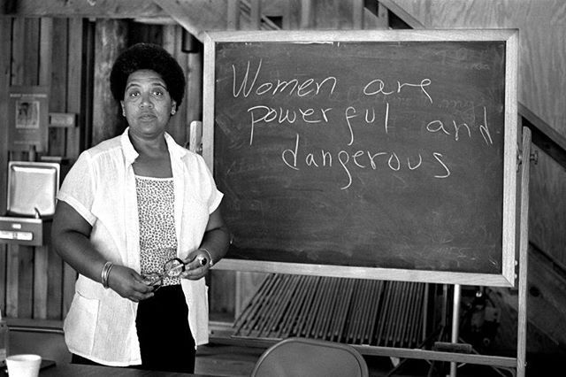 "Happy Birthday to Audre Lorde. ""When I dare to be powerful, to use my strength in the service of my vision, then it becomes less and less important whether I am afraid."" #audrelorde #happybirthday #womenwhodare #strongwomen #blackwomenrock #blackhistorymonth #shewhodares"