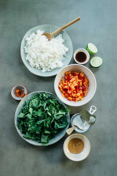 This curry is spicy! to reduce, add the gochujang paste a little bit at a time, tasting as you go - You can also add more coconut milk to reduce heat