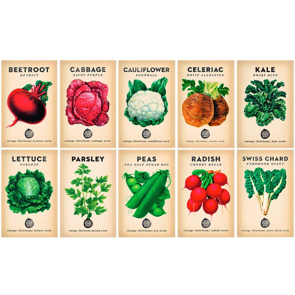 From seeds to plants to your plate! - Grow your own plants from these organic seed packets