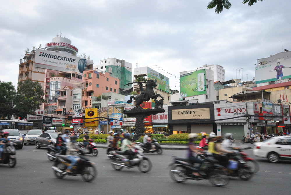 Scooters for days! - 45 million registered motorbikes in Vietnam!