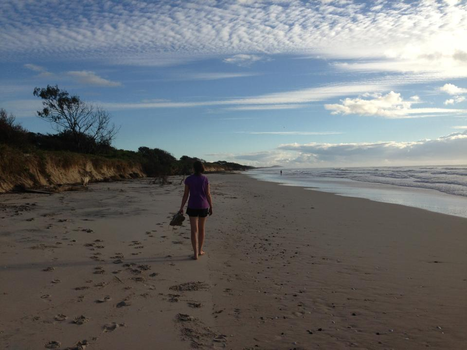 I ran every morning when I lived in Australia and would finish each one with a walk on the beach.